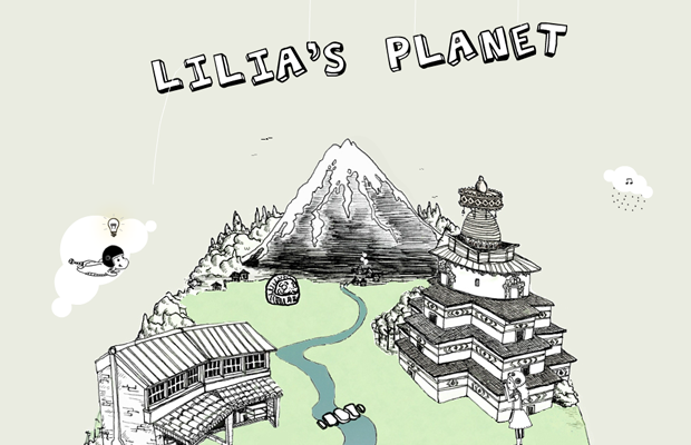 lilias planet website flash layout inspiration