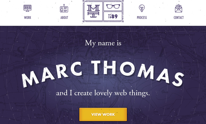 marc thomas freelance portfolio layout responsive