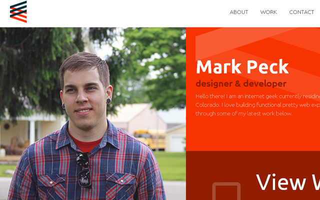 mark peck website portfolio background picture