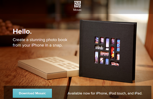 iphone mosaic photo gallery book product website