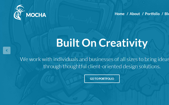 blue teal flat html5 mocha template design