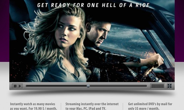 Photoshop tutorial for movie video streaming layout