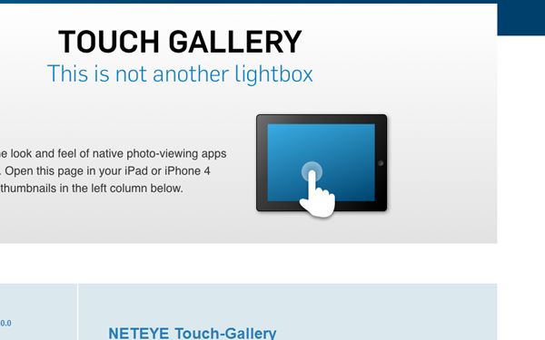 jquery plugin website homepage open source touch-compatible