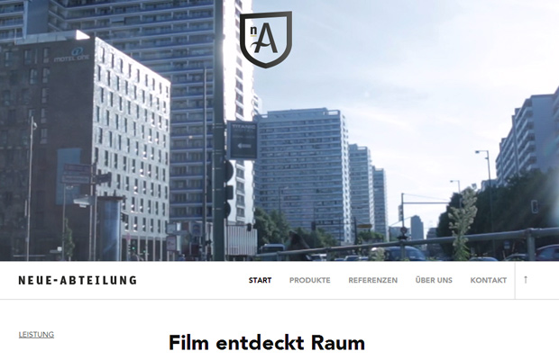 neue abteilung website background videos homepage