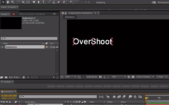 tutorial adobe effect overshoot motion animation