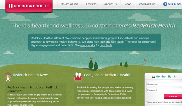 Red Brick website design nature