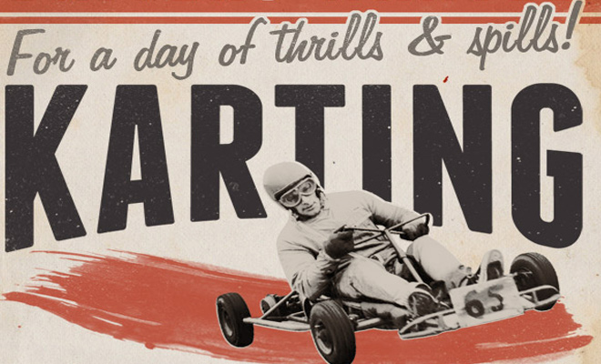 retro-style race poster photoshop