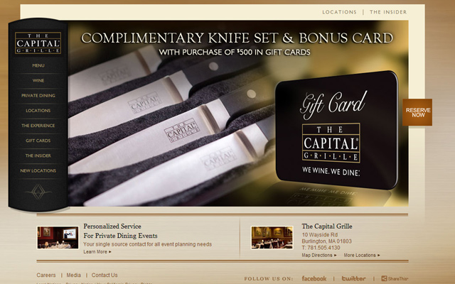 restaurant capital grille layout homepage