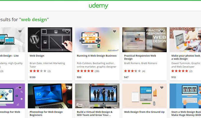 udemy online learning homepage