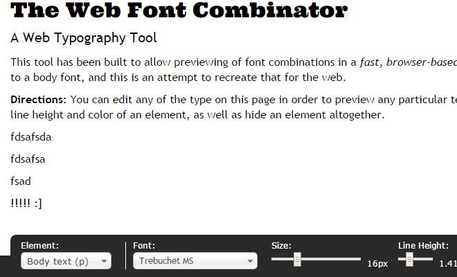 web font combinator website webapp
