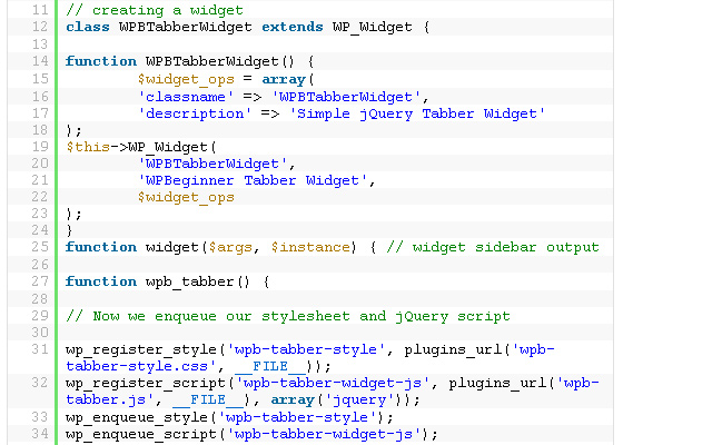 simple wordpress tabbed jquery widget