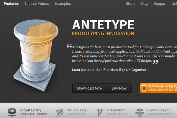 mac osx app antetype prototyping user interface
