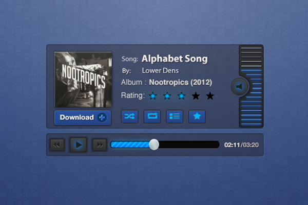 album artwork music player design ui psd