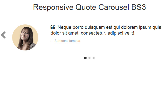 bs3 bootstrap quote carousel design