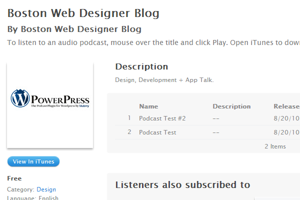 boston webdesigner podcast blog interface