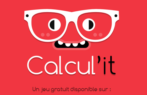 calculit red fullscreen illustration background