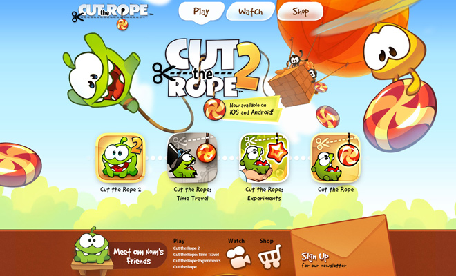 cut the rope game kids website