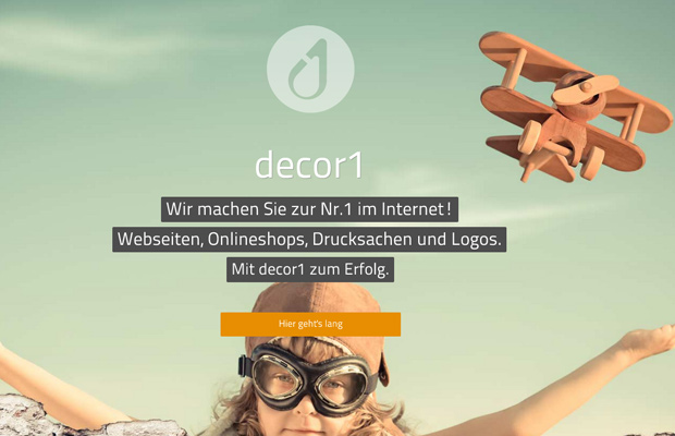 decor1 homepage website german layout design