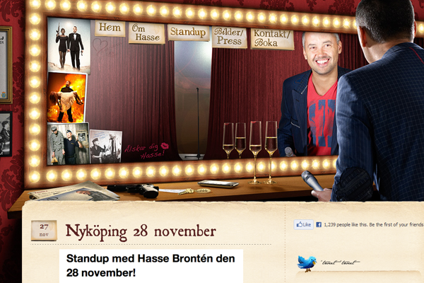 Bronten website layout comedian Germany