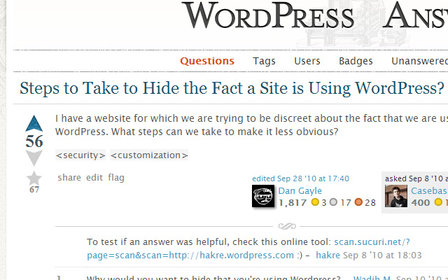 hiding a website running wordpress stackexchange open source