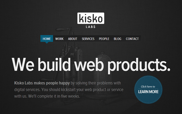 Dark Kisko Labs website design layout