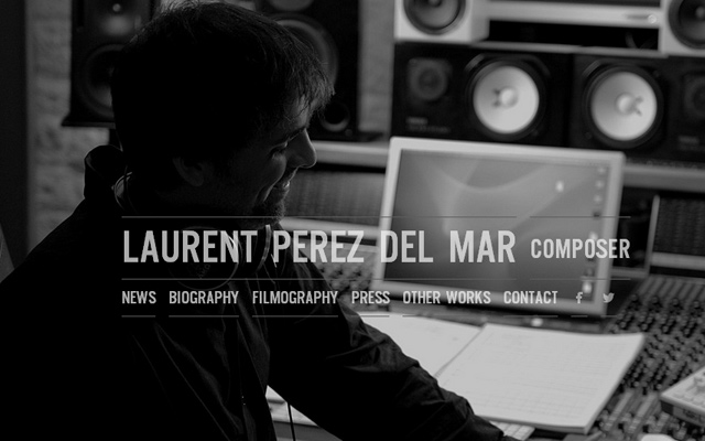 musician composer fullscreen background grey laurent perez del mar