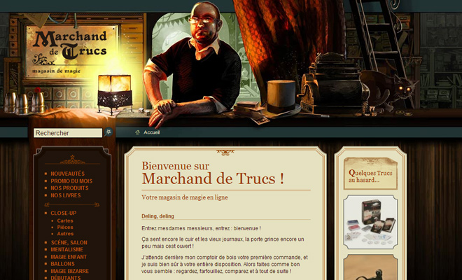 marchand de trucs website header