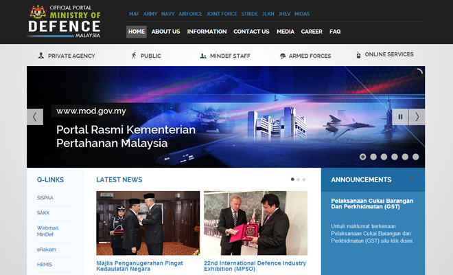 malaysia ministry of defence website