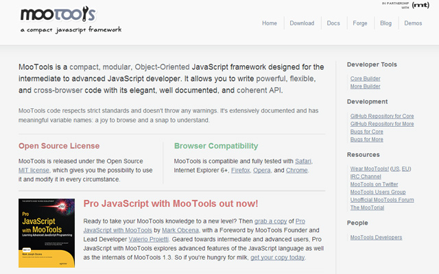 javascript compact library open source website