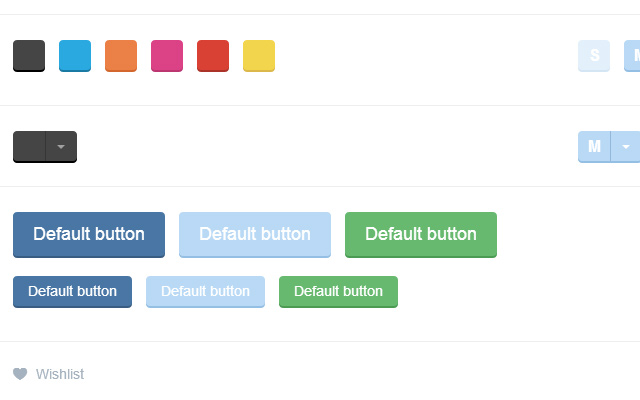 responsive flat buttons ui kit design bootstrap