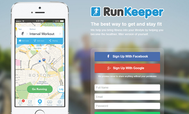 runkeeper track running stay fit iphone app website