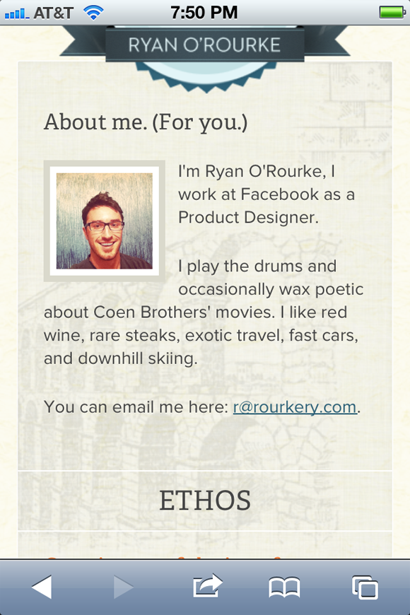 freelancer Ryan Orourke website portfolio