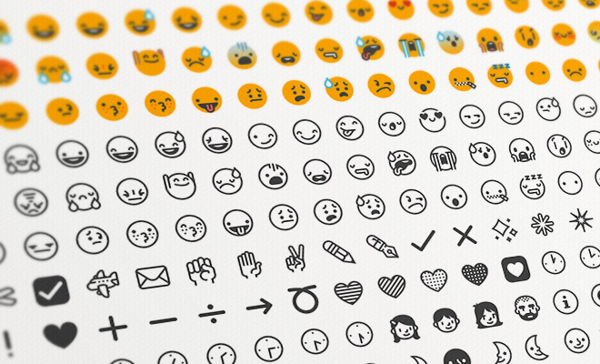 flat emoticons smiley icons sentoj