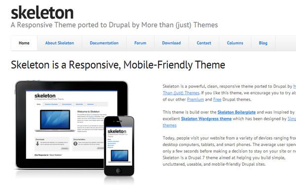 skeleton drupal theme freebie basic bare bones