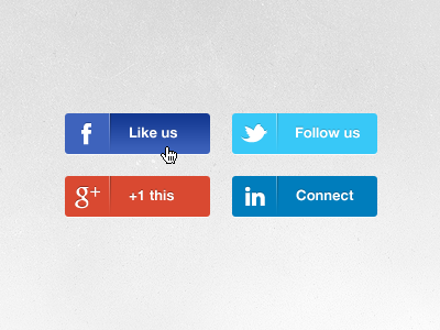 freebie download social icons buttons