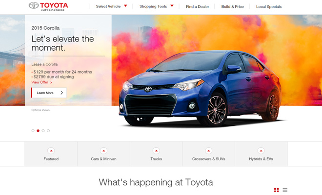 toyota car company website