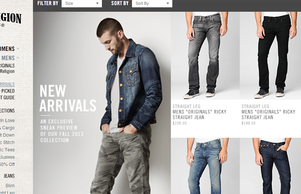 true religion jeans website products ecommerce