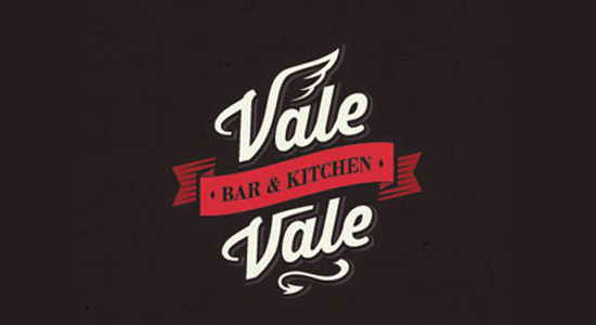 vale vale dark cafe coffee logo