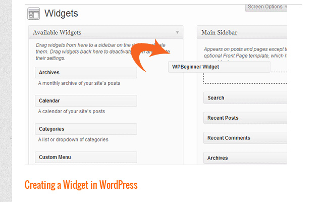 custom wordpress widget from scratch