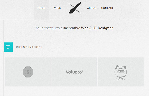 aleks faure freelance designer website layout