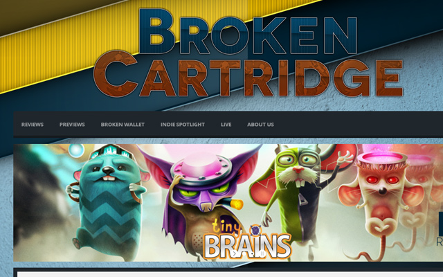 broken cartridge video game blog online big typoraphy