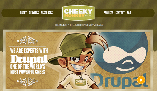 Cheeky Monkey Media web design