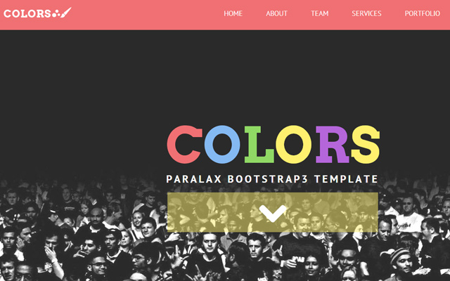 parallax html5 website layout colors design