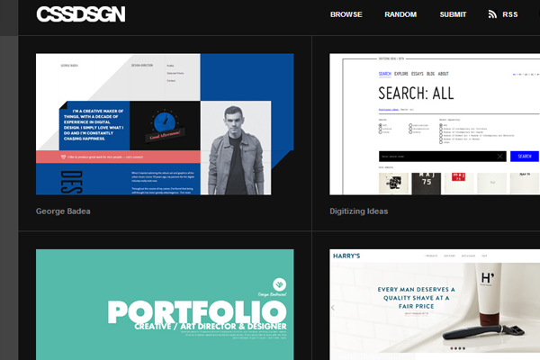 cssdsgn website showcase gallery inspiring