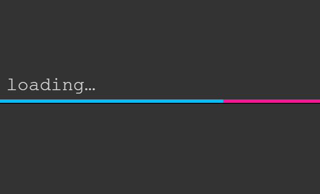 loading animated bar open source css3