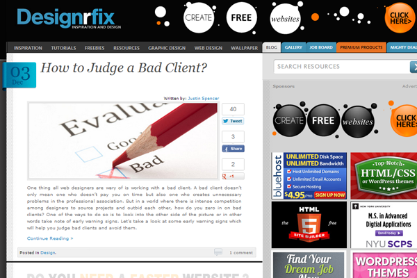 Designrfix website user submitted news