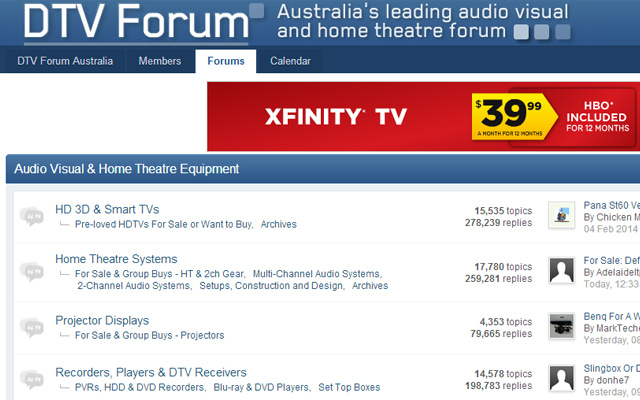 dtv forum australia website layout