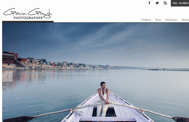 gavin gough website layout photography