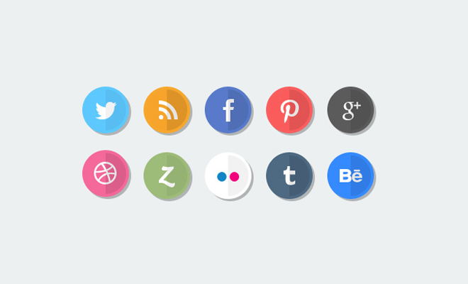 glossy circle icons freebie social media