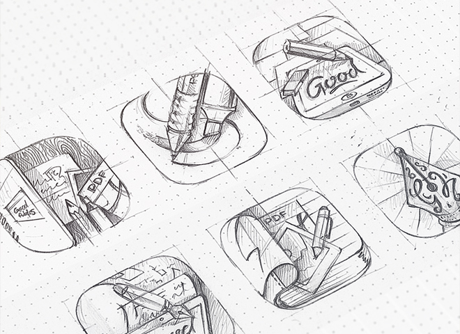 goodnotes icon progress sketch design artwork